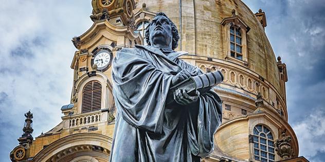 Lutherstatue vor der Dresdner Frauenkirche, Bild: © CC Commons/pixabay
