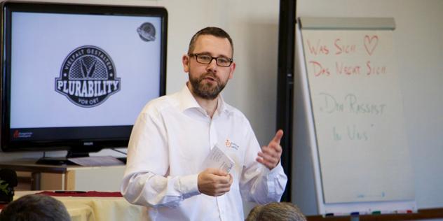 Jürgen Kricke im Seminar